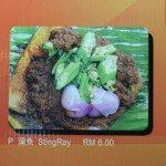 Stingray menu, Kuala Lumpur