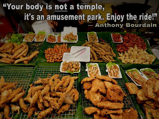 Food - Anthony Bourdain quote
