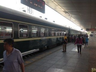 Erlian train outside