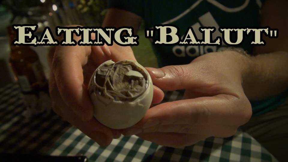 Eating Balut, Philippines