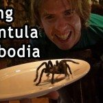 Eating Tarantula in Phnom penh Cambodia