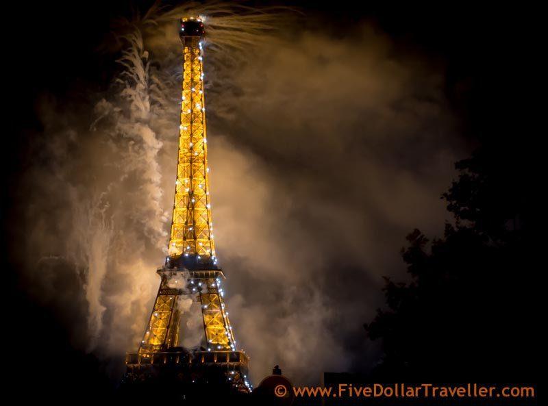 Bastille day Fireworks Paris 2014