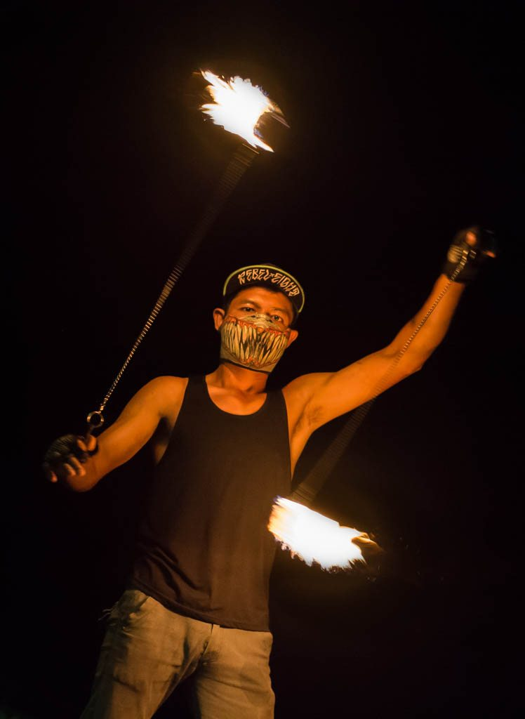 Fire Show lamai beach - things to do on koh samui