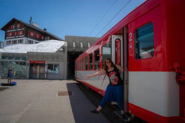 glacier express train ride switzerland (DIY Version) oberalp pass
