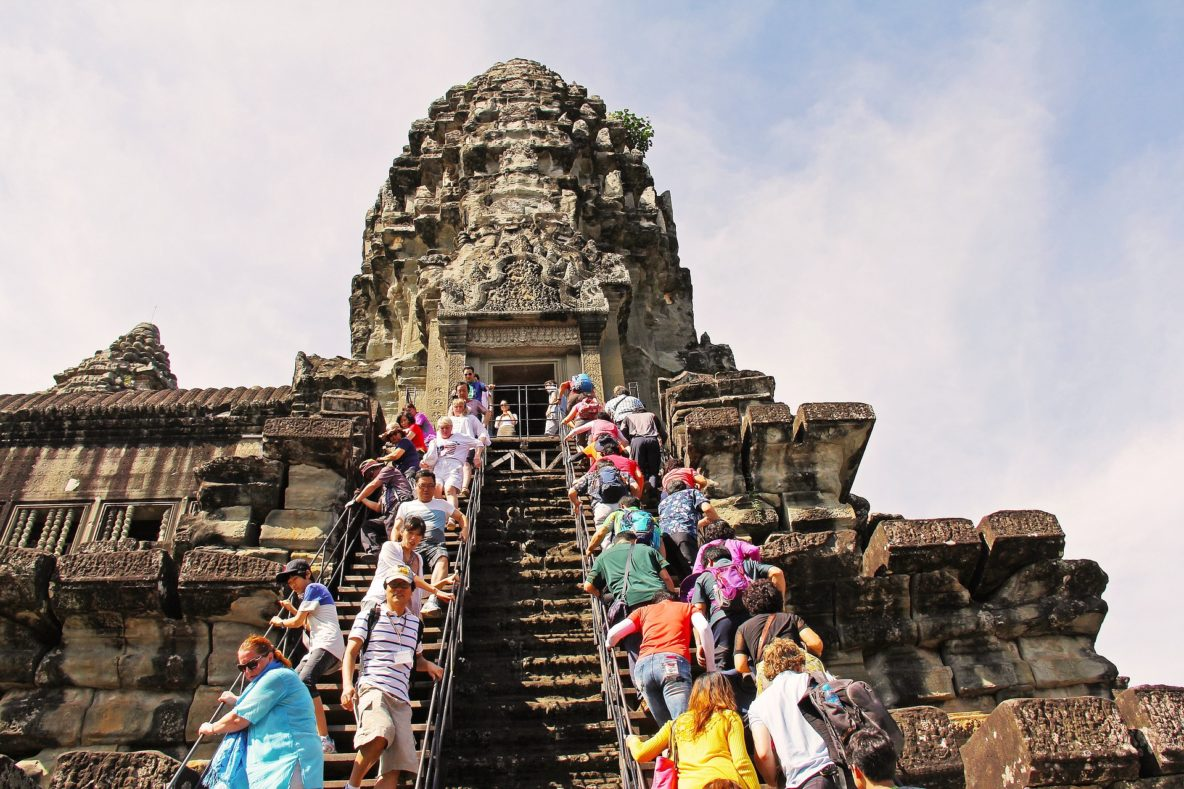 is angkor wat ruined by tourism