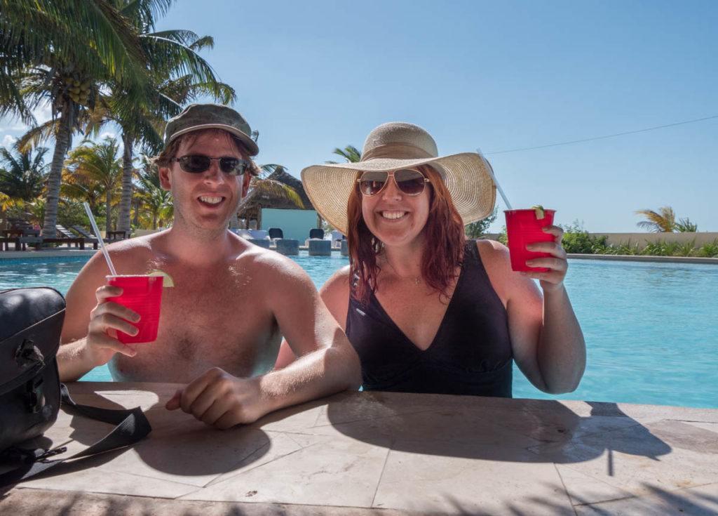 The swim up bar @ Poseidon, Celestun Yucatan
