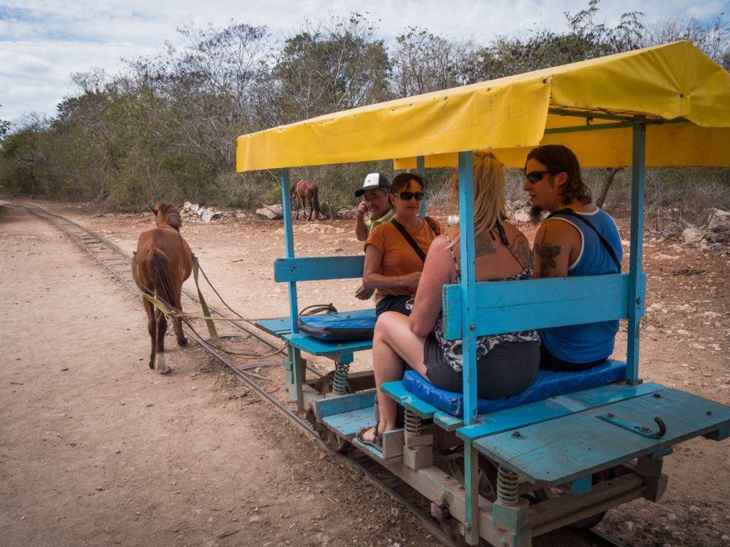 Cenotes Merida: cuzama cenotes - cuzama yucatan - train cart