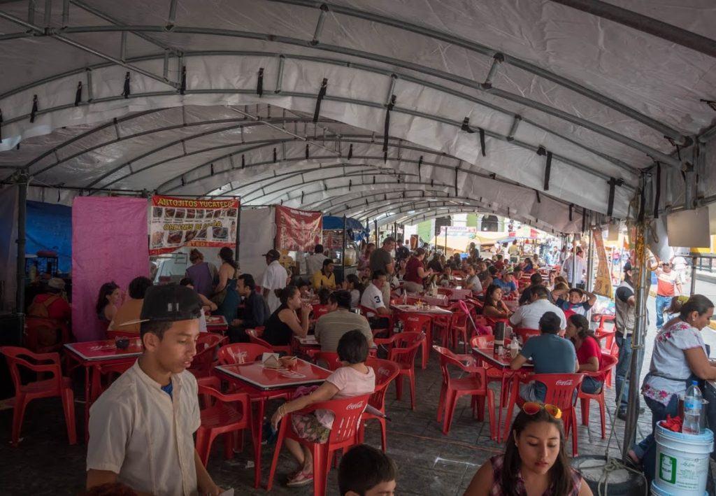 Sunday Merida Mexico Market in Plaza Grande