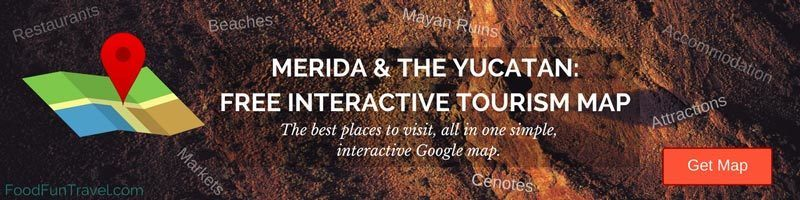 Yucatan Peninsula Map & Merida Mexico Map