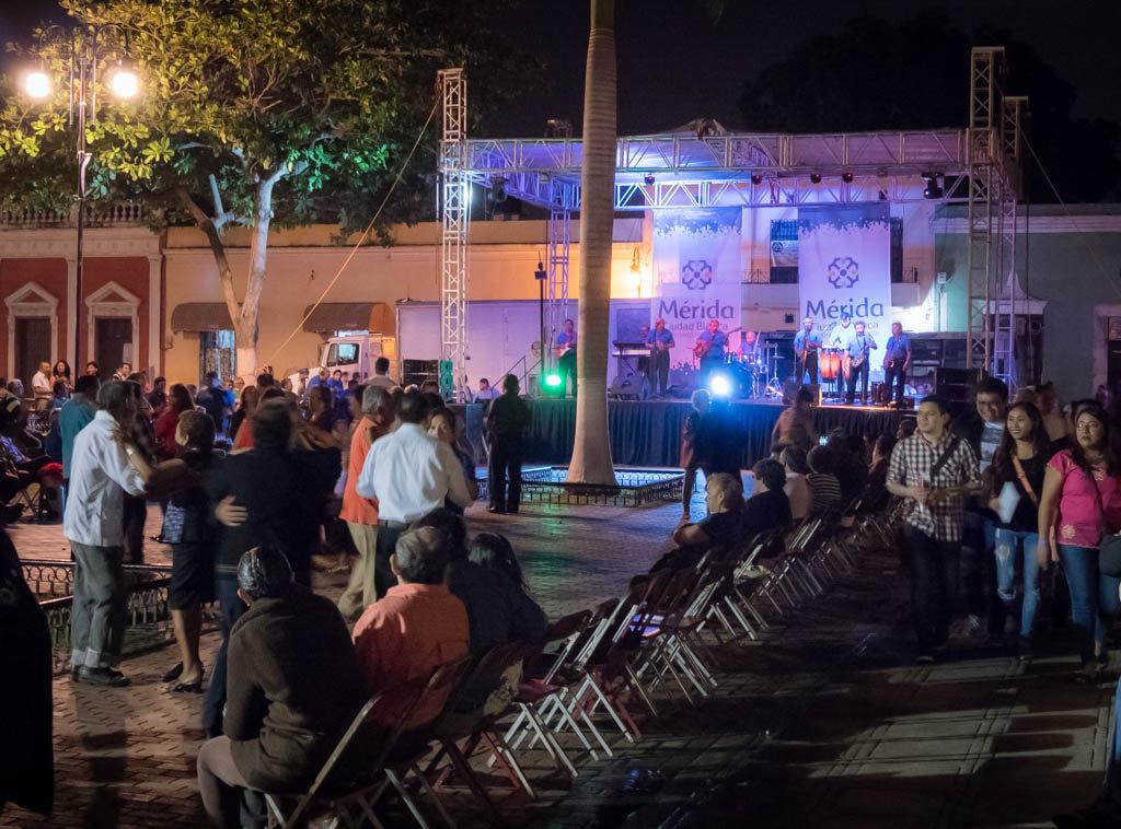 Noche Blanca Festival, San Juan Park, Merida Mexico