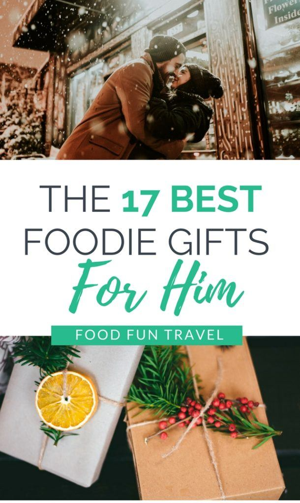 We've compiled a list of the hottest food gifts for men for 2018....yes there are some socks and jocks in there but there's some other really cool stuff that we know will make a great foodie gift for him