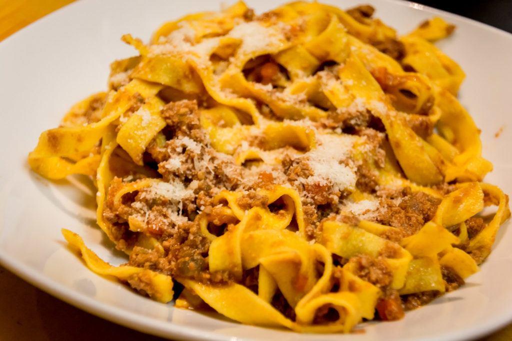 Bologna Food - What to eat in Bologna - Tagliatelle Ragù (Tagliatelle alla Bolognese) - Fresh pasta varieties