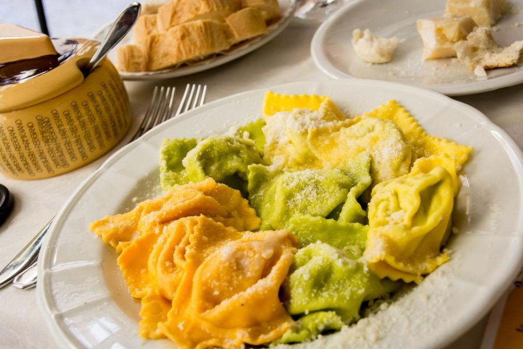 What to eat in Parma - Tortelli @ Gallo d'oro parma