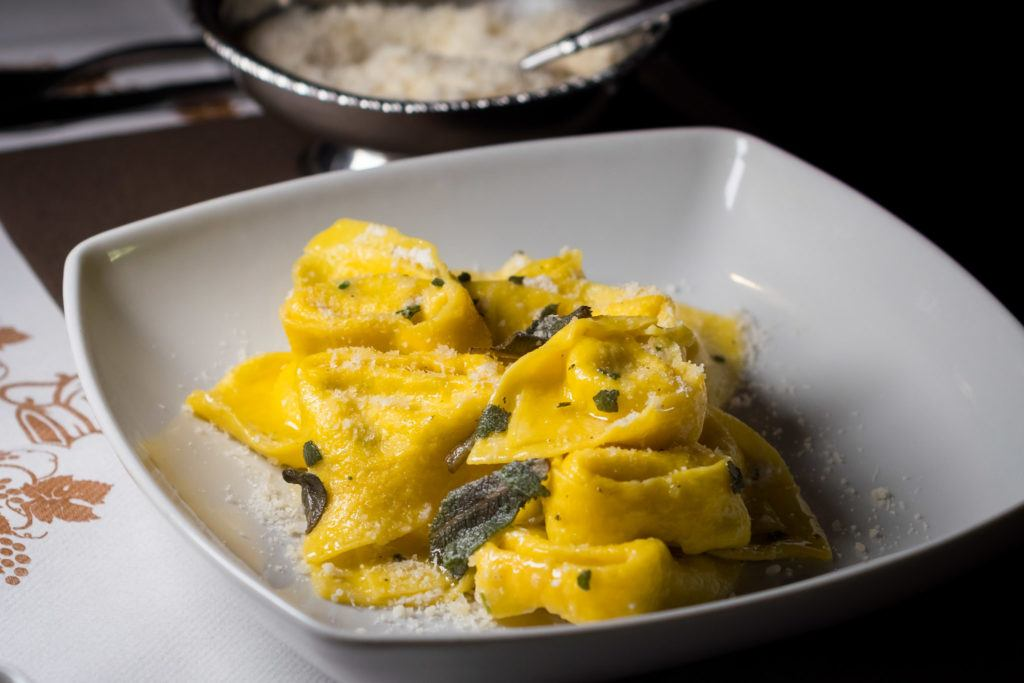Bologna Food - What to eat in Bologna - Tortelloni with butter and sage - fresh pasta varieties