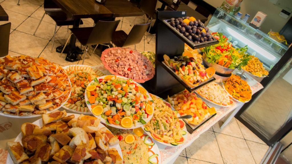 Bologna Food - What to eat in Bologna - The aperitivo spread at Caffè Zamboni