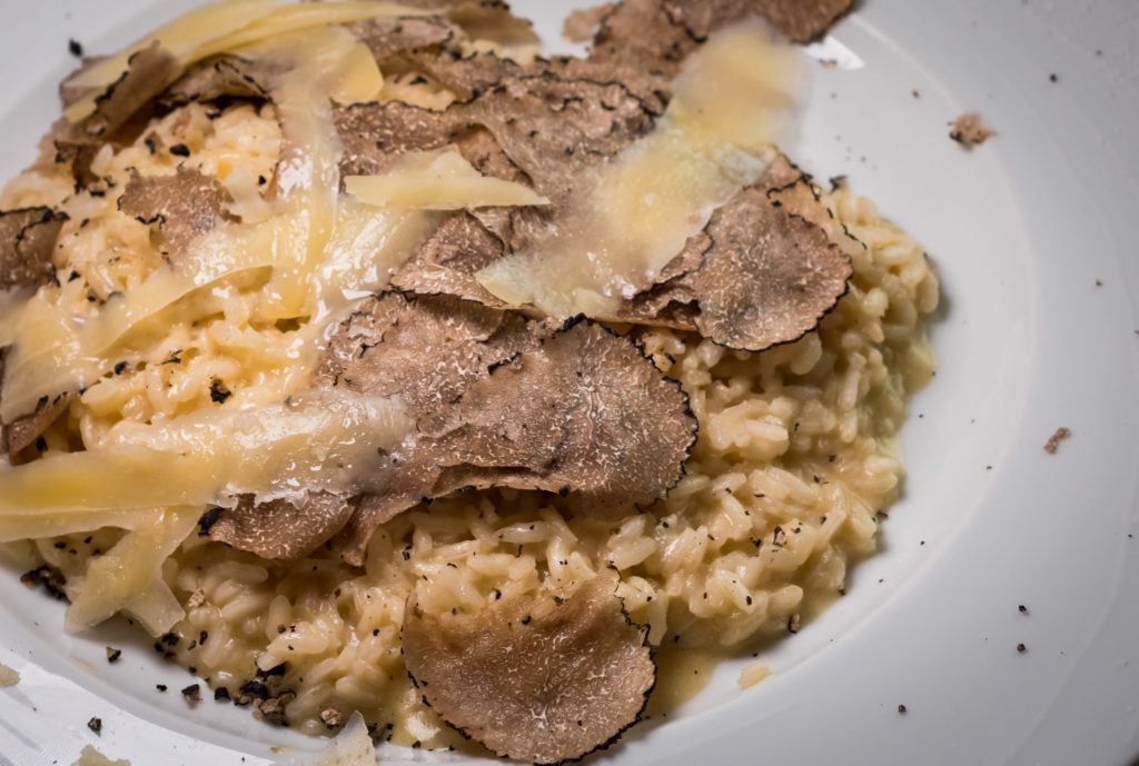 Bologna Food - What to eat in Bologna - Risotto with White Truffle @ Al Sangiovese Trattoria