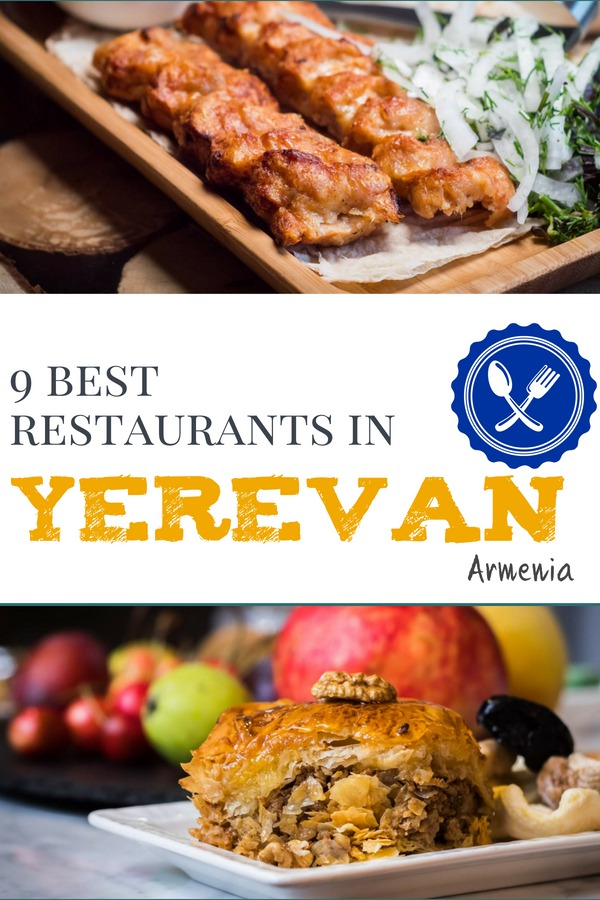 Discover the best places to eat in Yerevan Armenia. 9 Amazing Restaurants in Yerevan as tried and tested by us and some of our favourite travellers