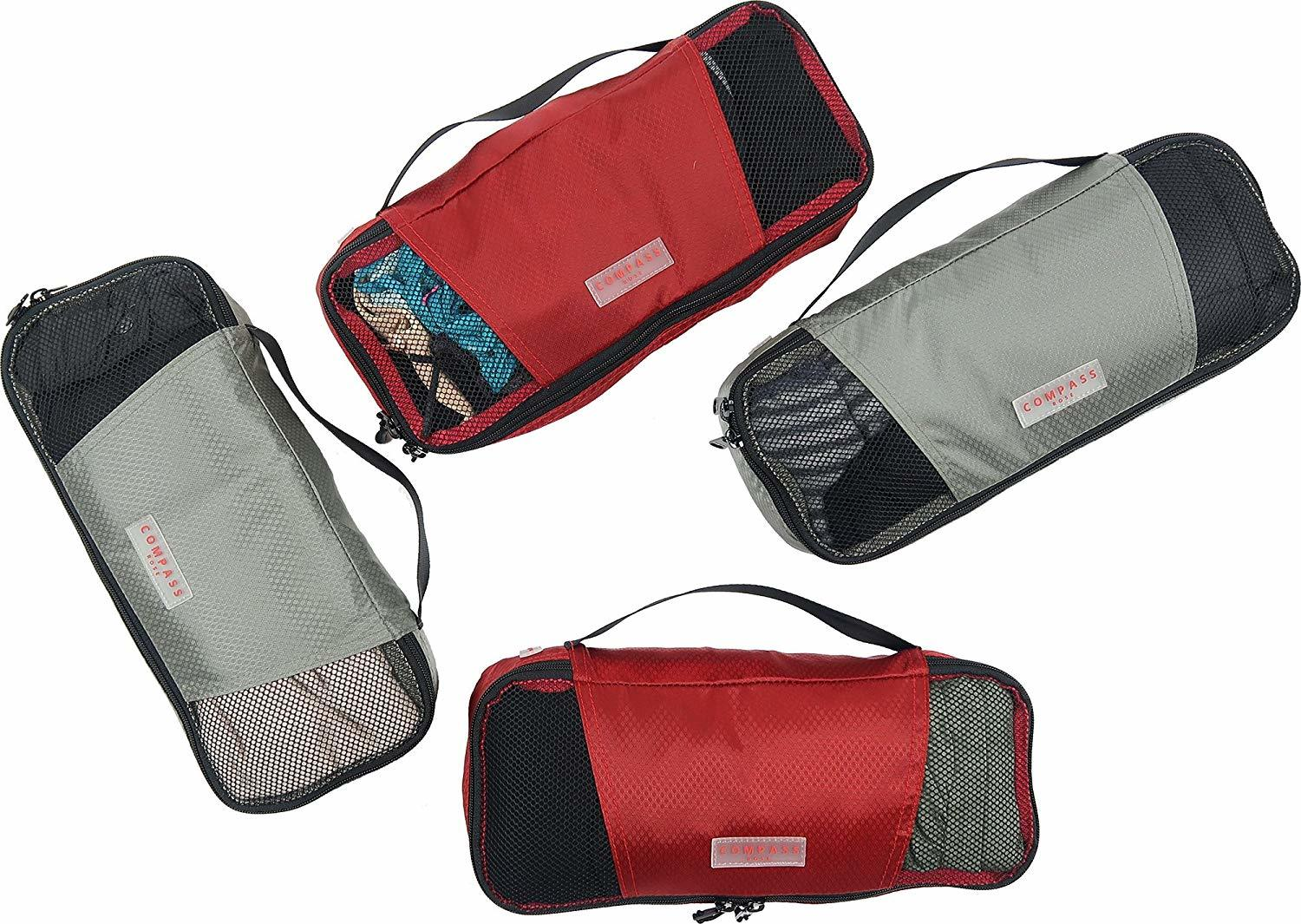 cool travel gifts - Compass Rose 4-Piece Carryon Packing Cube Set