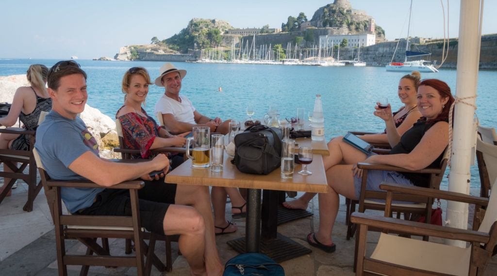 What To Do In Corfu / Corfu Town Restaurants / Corfu Greece Map: Drinks At The Faliraki Marina @ En Plo
