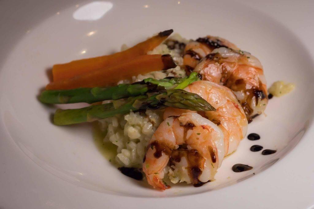 Jumbo Prawn Pesto risotto Viking River Cruise Food - Viking Danube Cruise review