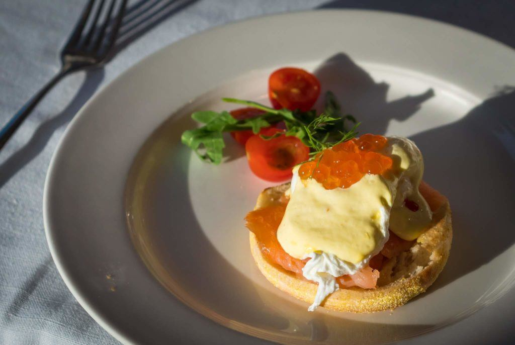 Salmon Eggs Benedict Viking River Cruise Food - Viking Danube Cruise review