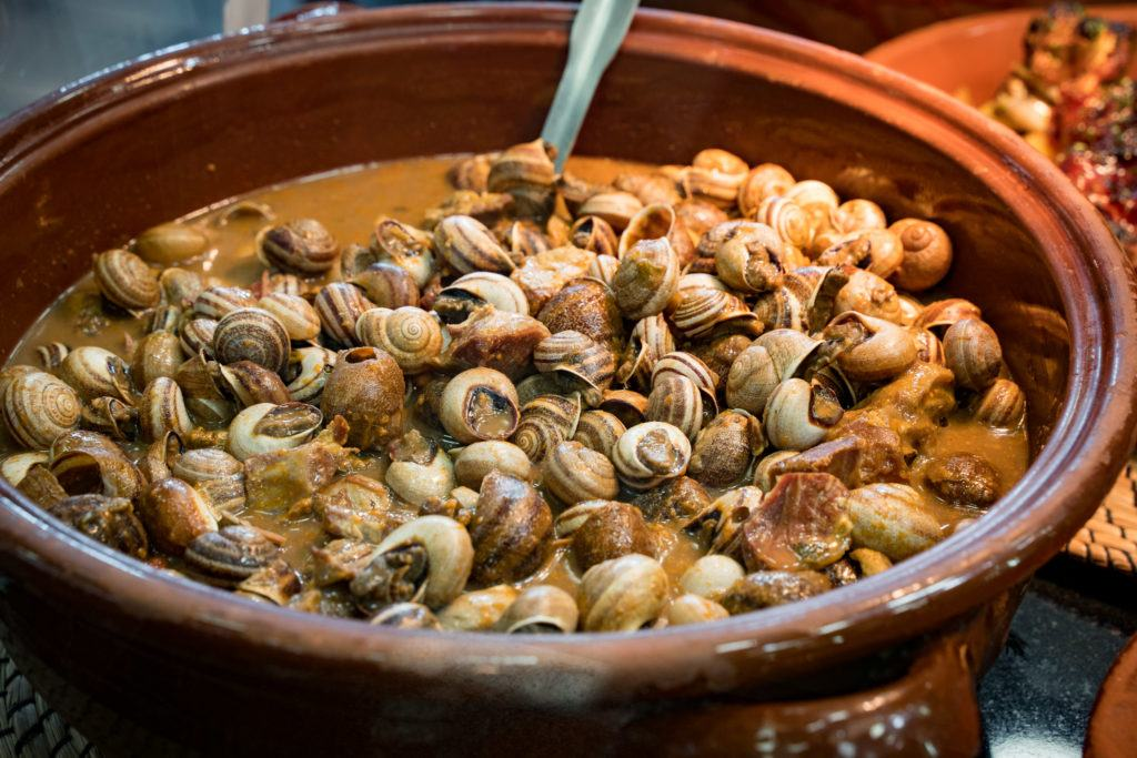 Mallorcan Food / Mallorca cuisine: Caragols (Snails)