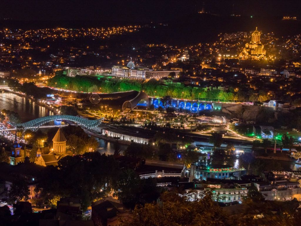 Things To Do in Tbilisi attractions | Places To Visit In Tbilisi Map Google: Tbilisi at night