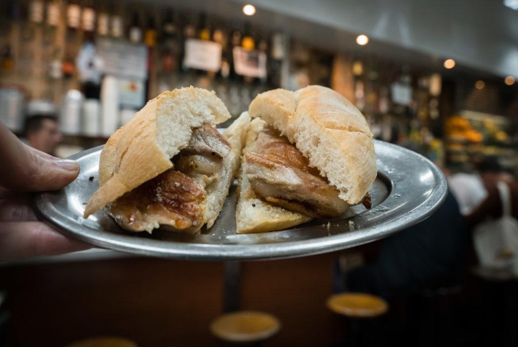 Lisbon Food: Bifana Grelhado (Grilled Pork Sandwich)