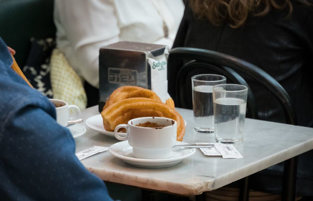 Desserts in Madrid: Churros con Chocolate (And Porras)