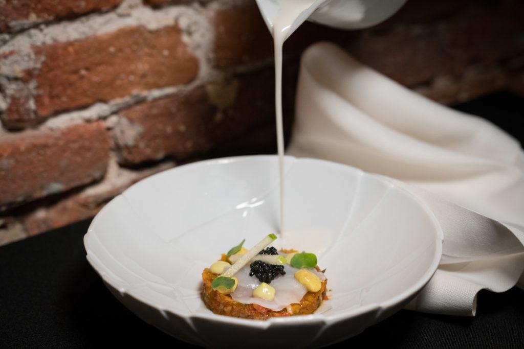 What to eat in Madrid: Scallop Carpaccio with Tomato Tartare @ Corral de la Morería