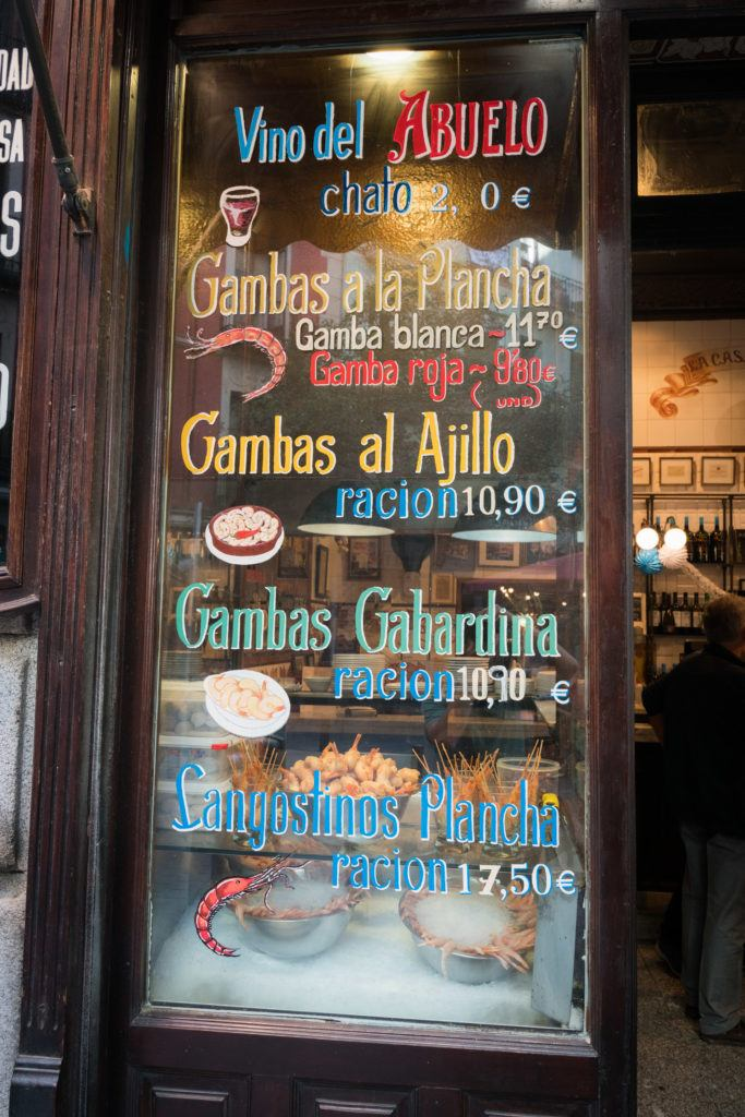 Madrid Food Guide | What To Eat in Madrid: Prawns