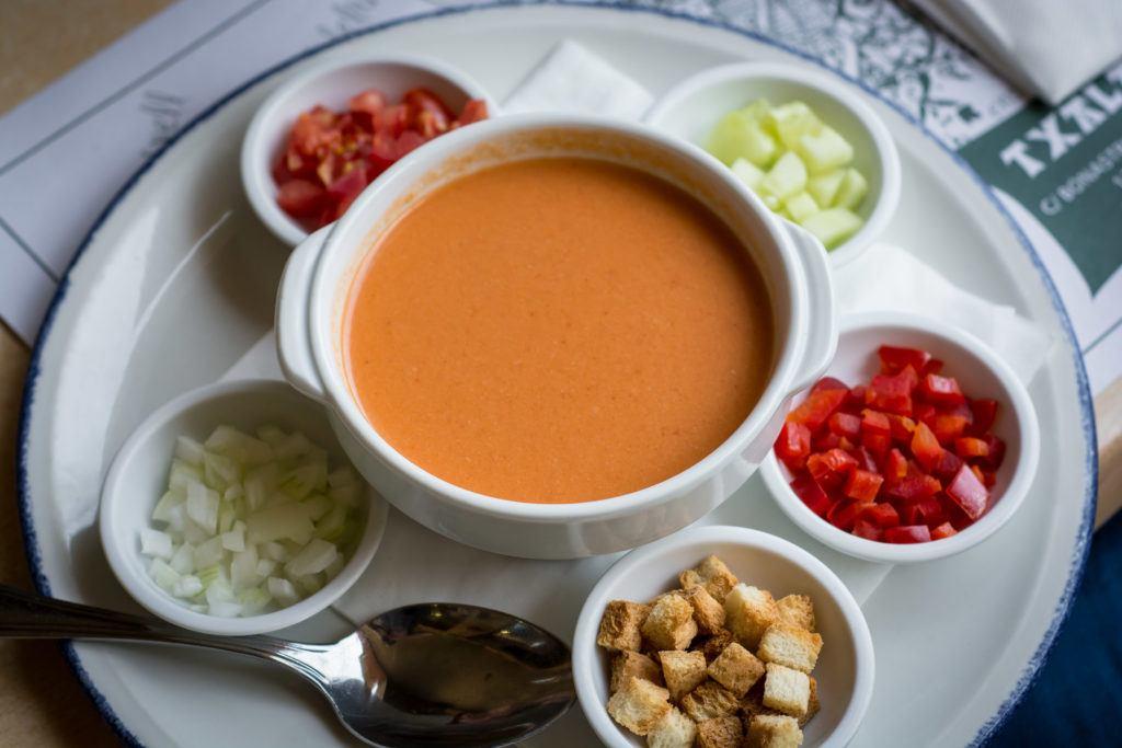 Spanish Tapas Dishes: Gazpacho / Salmorejo (Cold Soups)