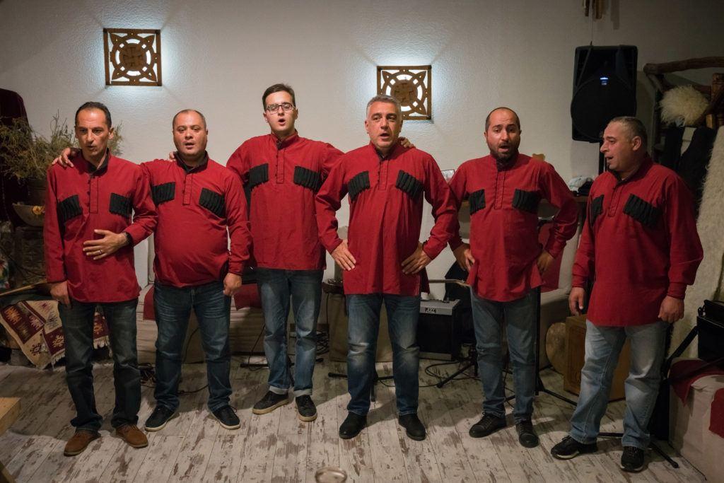 Traditional Georgian Polyphonic Singing & Music @ Laila Restaurant in Mestia.