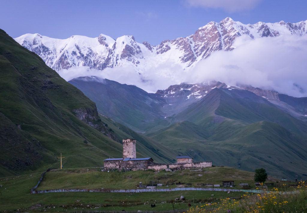 Ushguli Georgia: Lamaria Church & Monastery   Svaneti Georgia