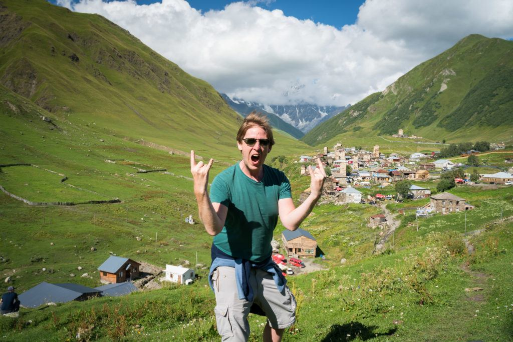 Views of Upper Ushguli Georgia & Mount Shkhara   Svaneti Georgia