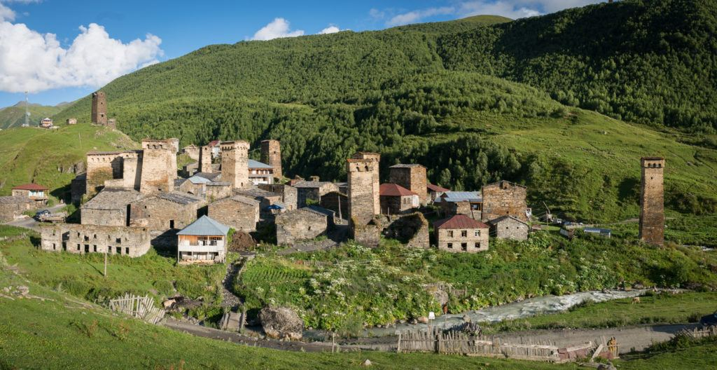 Ushguli Georgia: The Village of Chazhashi and its towers   Samegrelo-Zemo Svaneti