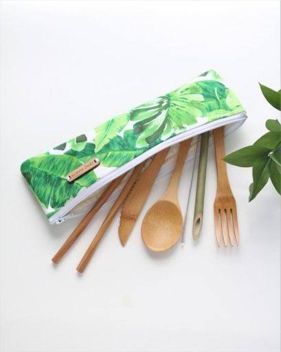 Bamboo Utensil Set - vegan christmas presents - gifts
