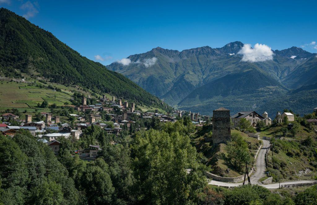 Svaneti mestia georgia - Views of the town