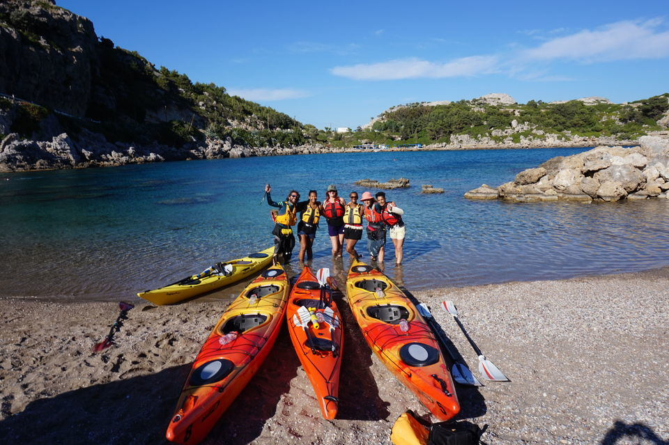 What To Do IN Rhodes: Sea Kayaking Down The East Coast