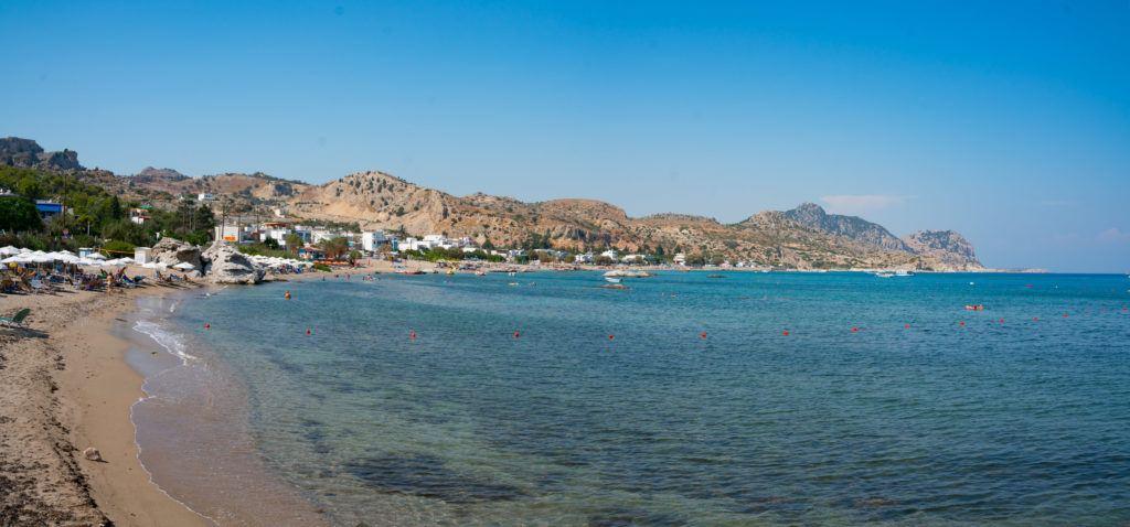 Rhodes Map & Rhodes Destinations: Stegna Beach