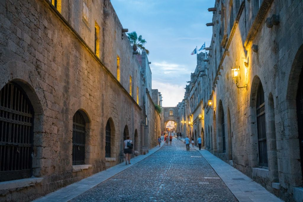 Rhodes Old Town Map | Things To Do In Rhodes Town: Street Of The Knights