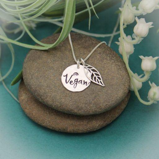 Vegan Leaf Necklace - vegan gifts for her - vegan gifts