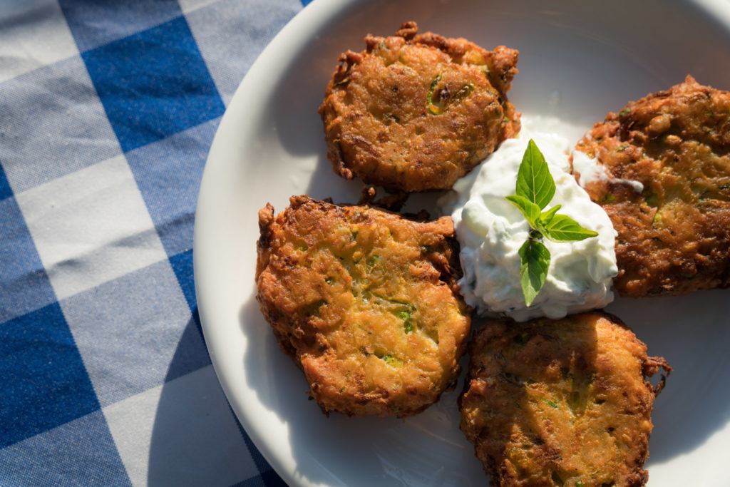 Kos Restaurants - What To Eat In Kos: Zucchini Fritters @ Avli Taverna
