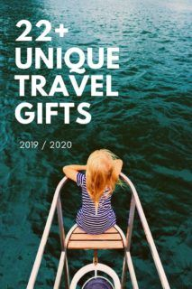Want this years cool travel gift ideas? Here's 22+ gifts for travel lovers they'll adore! Gifts for someone going travelling, unique travel gifts & more