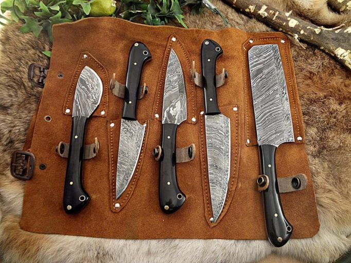 Custom Knife set - food gifts for men  - cooking gifts for him