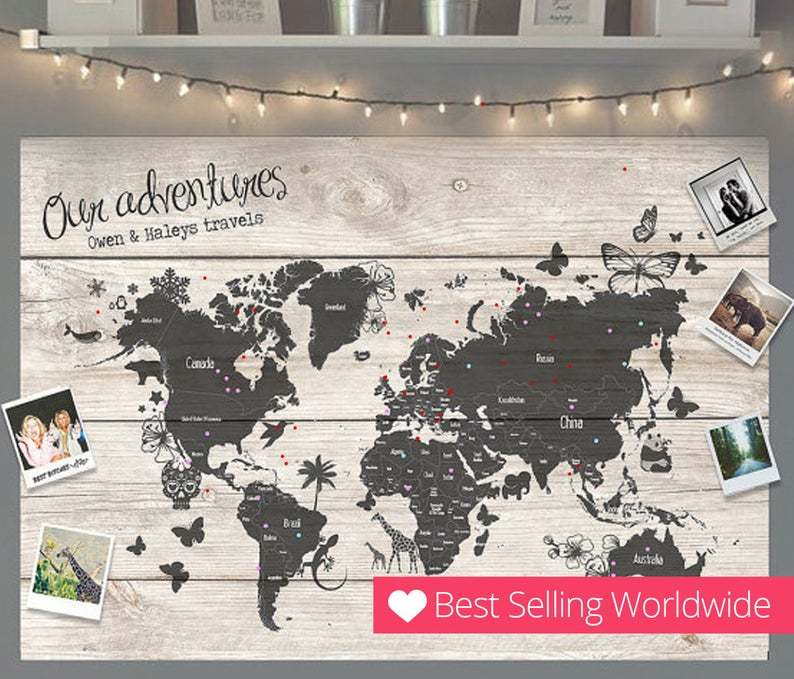 Pin Map - travel gifts for women