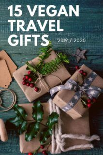 Find the perfect vegan presents for the vegan traveler in your life. Vegan gifts for her, vegan gifts for him & the best vegan Christmas gifts for travelers