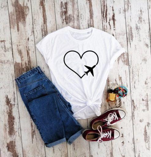 vegan travel tshirt - vegan presents - vegan gifts for her