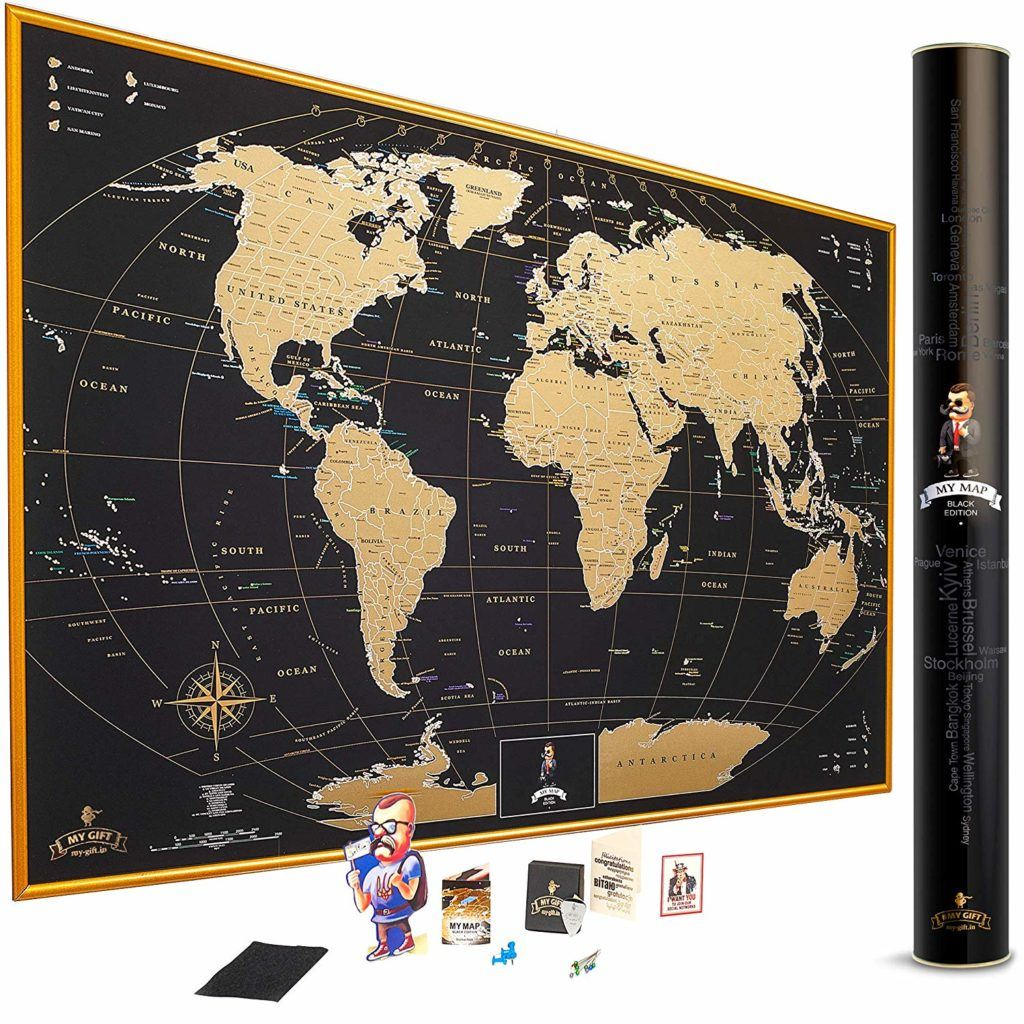 Scratch Map - travel gifts for women - travel gifts for her