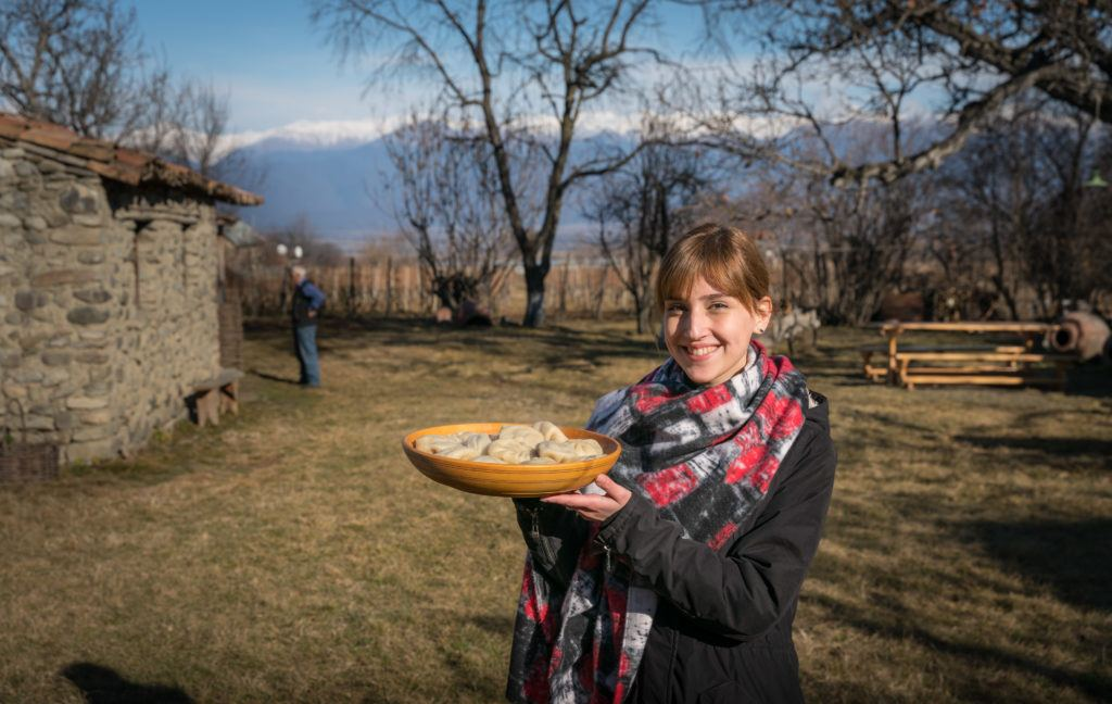 Khinkali Cooking Class With Mountain Views At A Home Winery